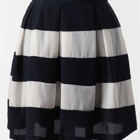 Meet Me At The Bayou Striped Skirt In Navy