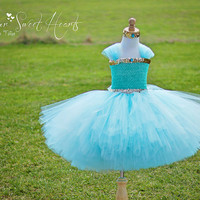 Jasmine Princess Tutu Dress, Birthday Tutu, Flower Girl Dress, Princess Costume, Princess Dress