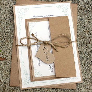 Rustic Wedding Invitation, Barn Wedding Invitation, Shabby Chic Wedding Invite, Burlap and Lace Wedding, Rustic Wedding, Rustic Elegance