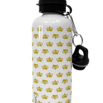 Gold Crowns AOP Aluminum 600ml Water Bottle All Over Print by TooLoud