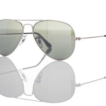 Kalete New Authentic Ray-Ban Sunglasses RB 3025 W3275 Silver Blue Mirror 55mm