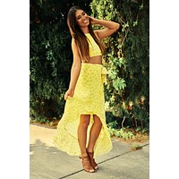 Shine Bright Floral Two Piece Set (Yellow)