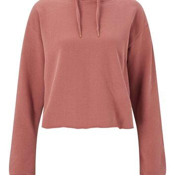 Pink Cropped Hooded Sweatshirt | Missselfridge
