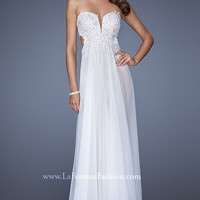 Long Strapless Prom Gown by La Femme