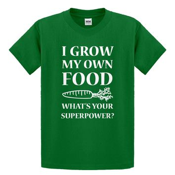 Youth I Grow My Own Food Kids T-shirt