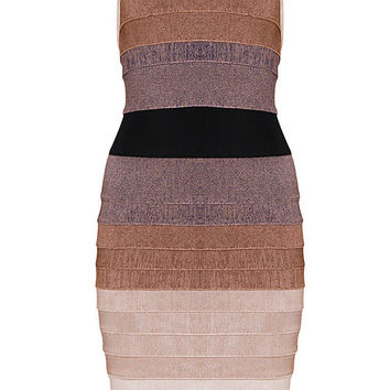Sexy Gradient Ombre Bandage Dress