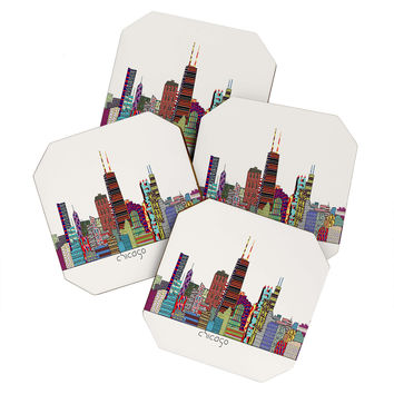 Brian Buckley Chicago City Coaster Set