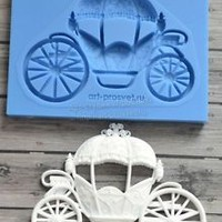 Best Quality Silicone Mold Carriage Cinderella Crafts Decorating Candy ARTMTR009