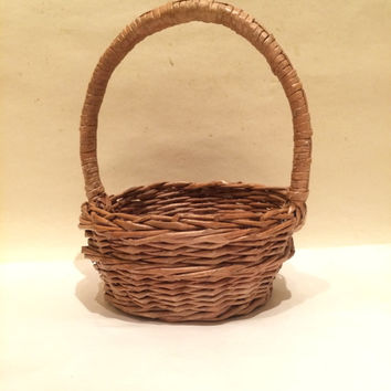 Easter basket liner Flower girl basket Rustic wedding Rustic Basket Paper basket Organizer Easter