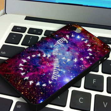 Galaxy Nebula Infinity Hakuna Matata iPhone 5 iPhone 4 / 4S Plastic Hard Case Soft Rubber Case