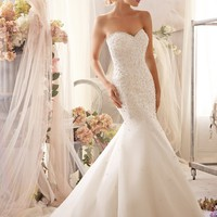 Mori Lee 2603 Beaded Mermaid Wedding Dress