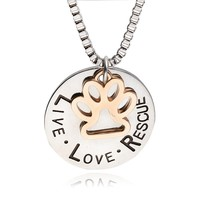 Rescue Dog Lover Necklace