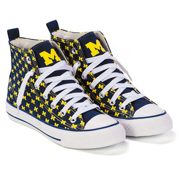 The M Den - Skicks University of Michigan WOMEN'S Navy with Yellow M's H