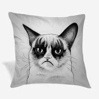 Grumpy Cat Tard Simmons Pillow Case