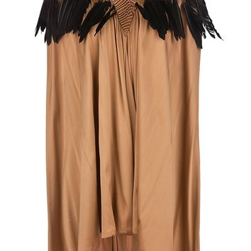 Ann Demeulemeester Feather Trim Dress