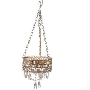 Beaded Chandelier - 25w Light Bulb Max Is Not Included