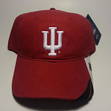 New! Indiana University Hoosiers Adjustable Buckle Back Hat Embroidered Cap