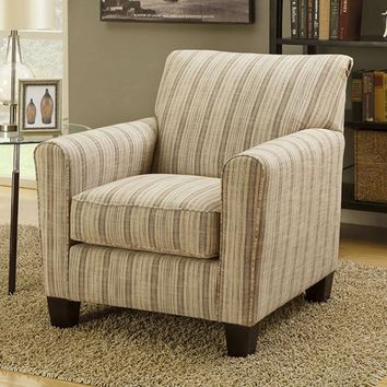 Liesl Transitional Accent Chair With Fabric, Flower Pattern Finish-CM6138A