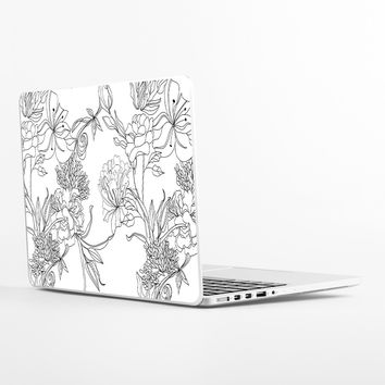 Sketch Floral Laptop Skin