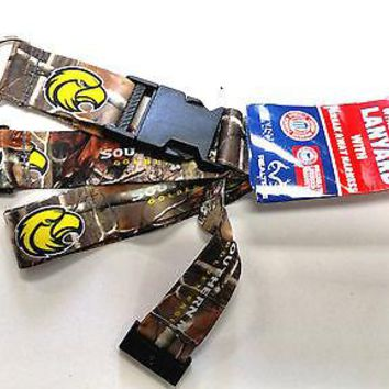 Southern Miss Golden Eagles CAMO Deluxe 2-sided Lanyard Keychain University of