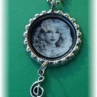Taylor Swift Music Note Bottle Cap Necklace Pendant