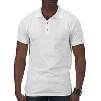 Mens Plain White Polo Shirt | Zazzle.co.uk
