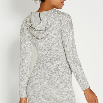 french terry hooded sweatshirt dress
