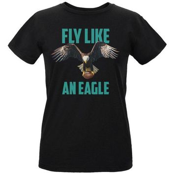 DCCKU3R Fly Like an Eagle Flying Football Womens Organic T Shirt