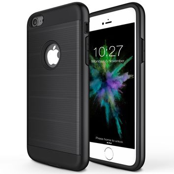 iPhone 6 Plus Case, iPhone 6S Plus Case, Sharkshake [Shock-Absorption] Bumper Corner Dual Guard Protective Shell Scratch-Resistant Rugged Cover for Apple iPhone 6/6S Plus -Black