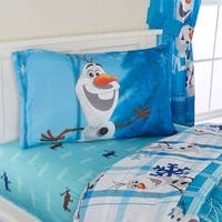 Disney Olaf 'Build A Snowman' Bedding Sheet Set - Walmart.com