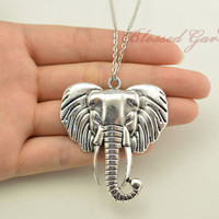 elephant necklace,lucky necklace,elephant jewerly,elephant ,bridesmaid necklace,friendship gift,blessed garden