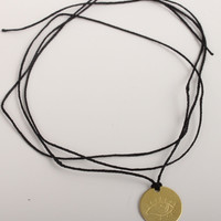 catbird brass disc necklace/bracelet-eye stamp