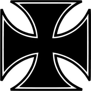 Iron Cross Knights Templar  Logo Vinyl Sticker Decal Car Truck Windon Wall Laptop notebook