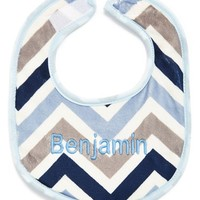 Infant Boy's Bibz N Thingz Personalized Bib - Blue