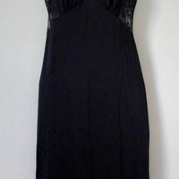 Vintage Black Lacy Night Gown