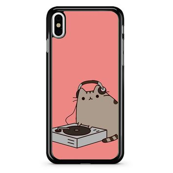 Pusheen The Cat Dj iPhone X Case