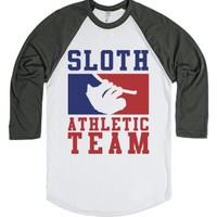 Sloth Athletic Team-Unisex White/Asphalt T-Shirt