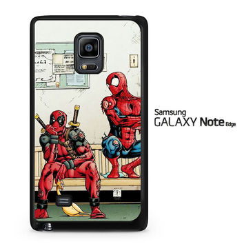 Funny Spiderman and Deadpool Samsung Galaxy Note Edge Case