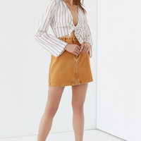 UO Tie-Front Striped Cropped Top | Urban Outfitters