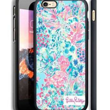 Lilly Pulitzer Blue Fish Custom For iPhone 6/6s,6/6s+,7,7+ Print On Hard Case