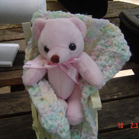 Clothes pin rocker,mini afghan,teddy bear anyone gift OOAKHandmade Toy