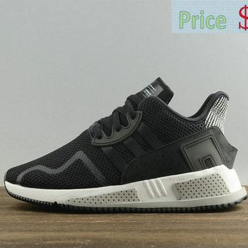 2018 Cheap Priced Mens Adidas Originals EQT Cushion ADV Black White Athletic Shoes BY9506 sneaker