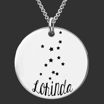 Virgo Constellation Zodiac Necklace