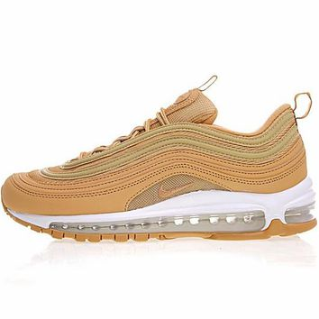 "b6661ef0d8881 Nike Air Max 97 Premium Retro Running Shoes ""Wheat Bullet"" AJ1986-200"