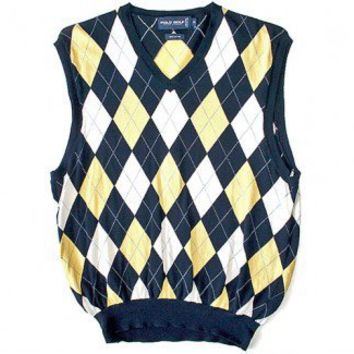 Shop Now! Ugly Sweaters: Ralph Lauren Polo Golf Argyle Tacky Ugly Sweater Vest Men's Size Medium (M) $35