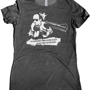 Hunter S. Thompson Closed Society Premium Women's Shirt