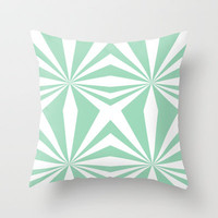 Mint Starburst #2 Throw Pillow by Project M