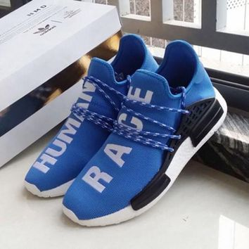 Adidas NMD Human Race Black Leisure Running Sports Shoes Yellow-1