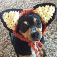 Dog Costume CROCHET PATTERN Fox Dog Hat Costume Pet Hat Pet Costume for Pet in Hat Pet Wearing Hat Pet Halloween Costume Pet Supplies Kawaii