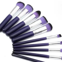 Purple Makeup Brushes 10 PC Set